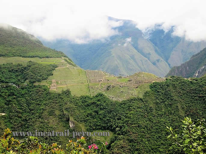 Views Machu Picchu on Putucusi Mountain