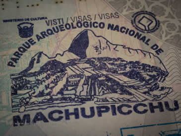 Passport Stamp at Machu Picchu