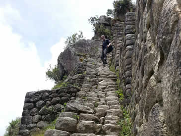 Stairs of death Huayna Picchu